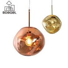 BDBQBL Nordic Lava Melt  Glass Ball Pendant Lights Lamp Modern Fantasy Magic  Hanglamp Ball Transparent Cafe Restaurant Bar
