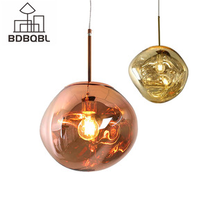 Image 1 - Bdbqbl北欧溶岩溶融ガラス玉のペンダントライトランプ現代ファンタジー魔法hanglampボール透明カフェレストランバー