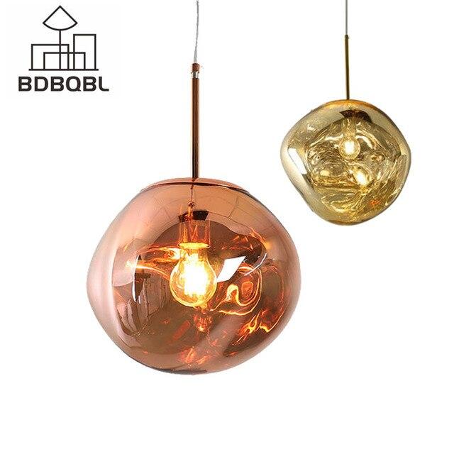 Bdbqbl北欧溶岩溶融ガラス玉のペンダントライトランプ現代ファンタジー魔法hanglampボール透明カフェレストランバー