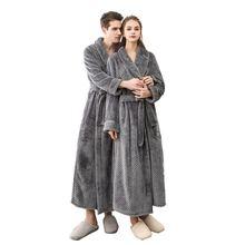 Зимняя и осенняя плотная фланелевая Мужская женская банная одежда