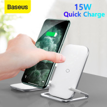 Baseus Qi Wireless Charger Stand for iPhone 11 Pro X XS 8 XR Samsung S9 S10 S8 S10E Fast Wireless Charging Station Phone Holder