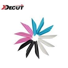 50/100 Uds. Plumas de flechas de plástico de tiro con arco y flecha de 1,75 pulgadas con plumas de flechas giratorias accesorios para caza