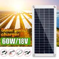 50W/60W 18V Solar Panel Dual USB Output Solar Cell Poly Solar Panel with 10A 30A Controller for RV Car Yacht Battery Boat Charge
