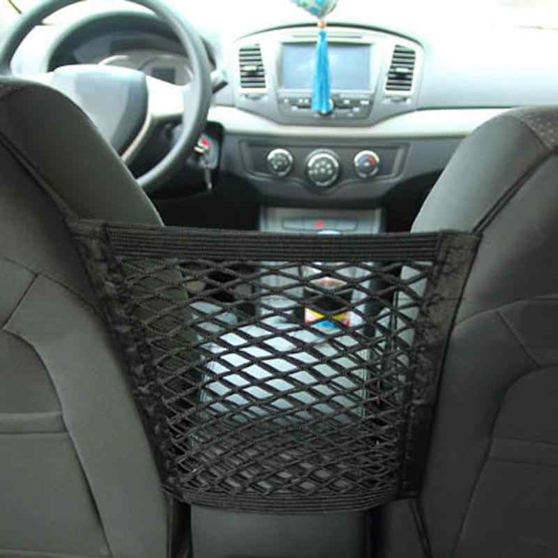 30*25cm organizador do carro assento de volta armazenamento elástico malha carro net saco entre saco titular da bagagem bolso estilo do carro para veículos automóveis
