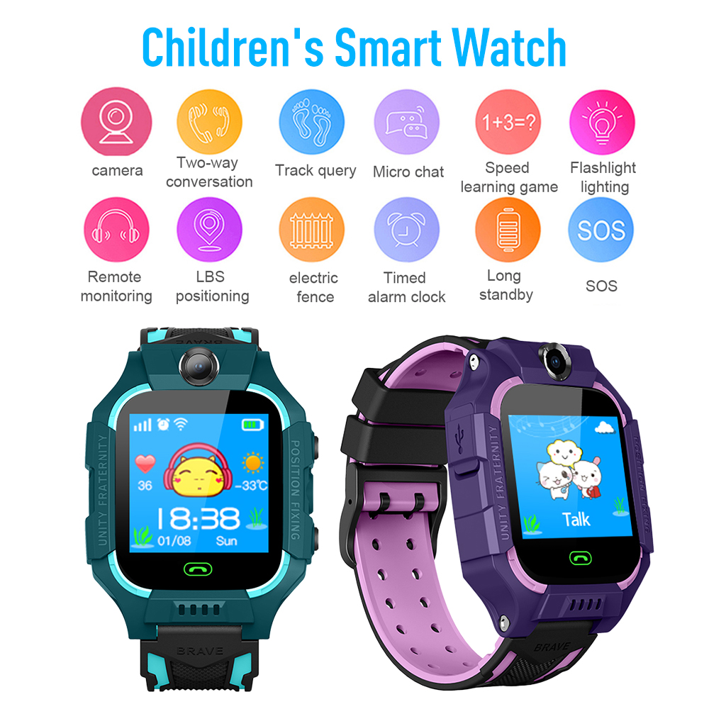 NEW KIDS Smart Watch Phone Call Alarm Step Counter Camera USB3.0 For Kids Child