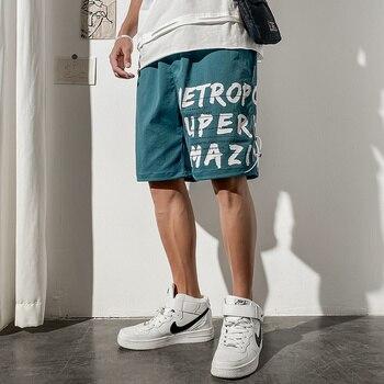цена на Mens Summer Cotton Shorts De Hombre Letter Printed Sweatpants for Men Clothes 2020 Drawstring Hombre Verano Sport Shorts Homme