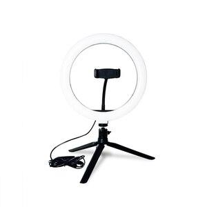 Image 5 - CZ abd fotoğrafçılık LED halka lamba halka ışık stüdyosu fotoğraf Video kısılabilir lamba Tripod standı Selfie kamera telefonu çekim Video