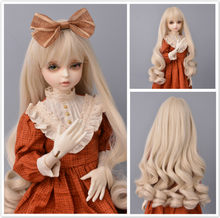 Doll curly long Wigs for doll Heat Resistant Wire Brown Blonde Wigs for 1/3 1/4 1/6 BJD Dolls Accessories(China)