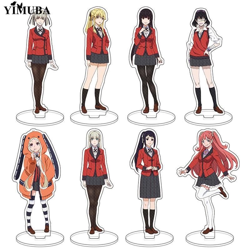 Japanese Anime Kakegurui Standing Keychain Model Gift Jabami Yumeko Yomoduki Runa Double Sided Acrylic Figures Toys Collectible