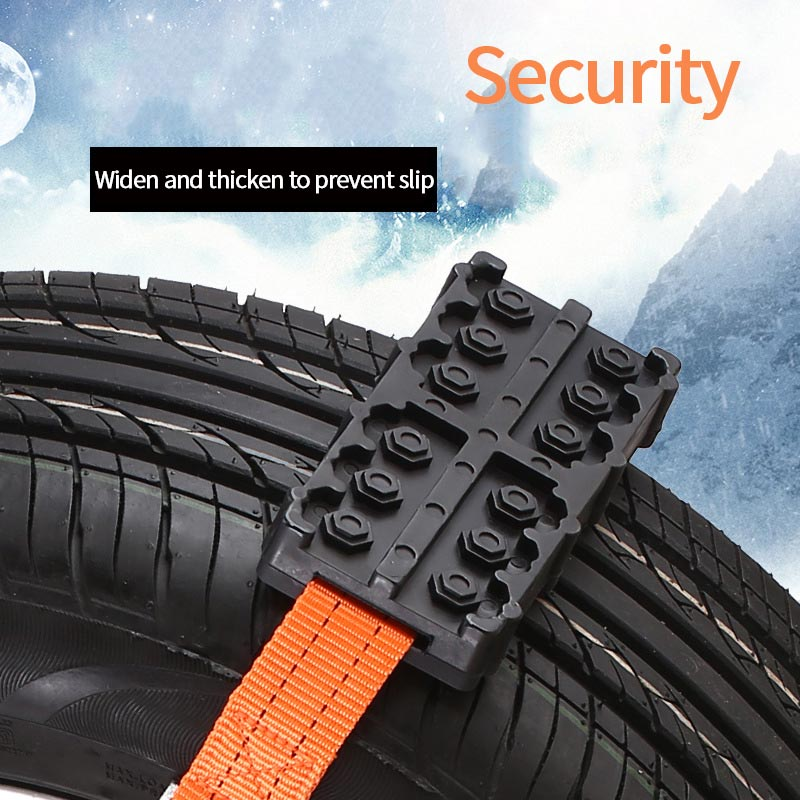 Tire Wheel Chain Anti-Slip Emergency Snow Chain Safe Driving Truck Suv Auto Car Accessories For Ice Snow Mud Sand Road