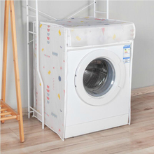 Купить с кэшбэком Waterproof Sunscreen Washing Machine Cover Waterproof Case Washing Machine Protective Dust Jacket Front Open cubierta lavadora