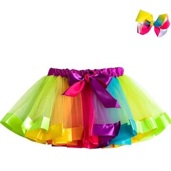 Tutu spódnica dziewczynka spódnice 3 do 8 lat księżniczka Mini Pettiskirt Party Dance Rainbow tiulowe spódnice dziewczyny ubrania dla dzieci odzież tanie i dobre opinie WFRV Na co dzień CN (pochodzenie) Pasuje prawda na wymiar weź swój normalny rozmiar Poliester Wiskoza COTTON GEOMETRIC