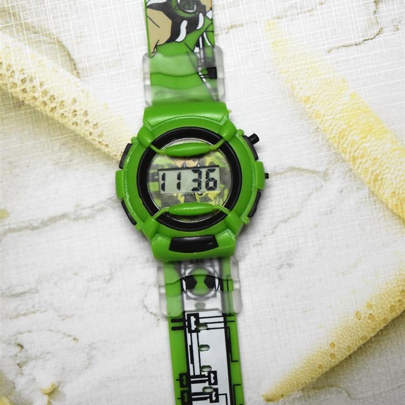Pentium Silicone Cute And Handsome Cartoon Watch Boy Fashion Ben10 Children Electronic Watch