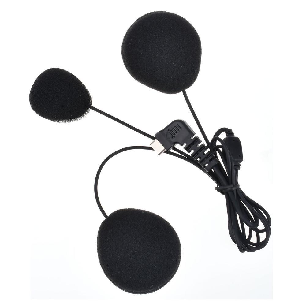 Zaktualizowany fodsports miękki zestaw słuchawkowy z mikrofonem słuchawki stereo tylko dla BT-S1 BT-S2 BT-S3 interkom w kasku motocyklowym