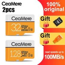 CeaMere Carte mémoire TF 256GB/128GB/64 GO UHS-3 32 GO/16 GO/8 GO Classe 10 UHS-1 Carte Mémoire 4 GO de Mémoire Flash Micro Libre Carte Lecteur
