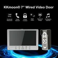 Doorbell Video-Door Phone-System Visual-Intercom Wired Night-View Unlock Home-Surveillance