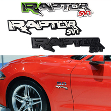 New Car Styling 3D Metal RAPTOR SVT Logo Tailgate Emblem Motorcycle Sticker Decoration For Ford F150 2010-2014 accessories