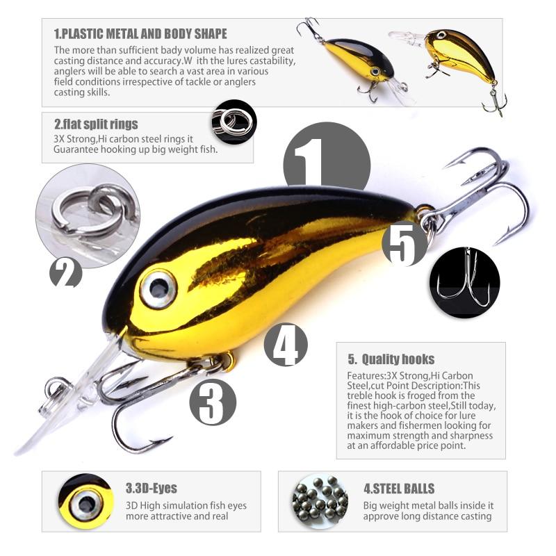Banshee 43mm 6g Mini Crankbaits Fishing Lure Bait Minnow Wobbler Fishing Fish Lures Pike Hard Baits Topwater Trout Crankbait
