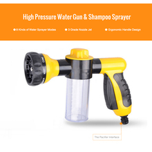 High Pressure Shampoo Sprayer Portable 3 Grade Nozzle Jet Car Washer Foamer Cleaning Gun Automobiles Wash Tools