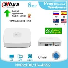 Dahua 8MP 4K NVR2108-4KS2 NVR2116-4KS2 8CH 16CH H265+ Mini Video Recorder Security System Support Hikvision Onvif IP Camera