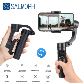 Salmoph Handheld Gimbal Smartphone Foldable Gimbal Stabilizer Pocket Sized 3-Axis Handheld Selfie Stick for Xiaomi Iphone handheld gimbal adapter switch mount plate for gopro 6 5 4 3 3 yi 4k camera for dji osmo for feiyu zhiyun smooth q gimbal