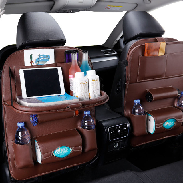 Car Back Seat Organizer With Tray