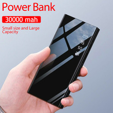 30000mAh 2 USB Power Bank Portable for IPhone Xiaomi Samsung Mobile Phone LED Power Bank External Battery Charger Power Bank most powerful solar power bank external battery power bank charger 30000mah for smart mobile phones tablet pc