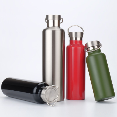 0 5 0 6 0 75 1L Thermos Double layer Vacuum Flasks Stainless Steel Portable Outdoor Mountaineering Sports Bottle Flask Thermoses in Vacuum Flasks Thermoses from Home Garden