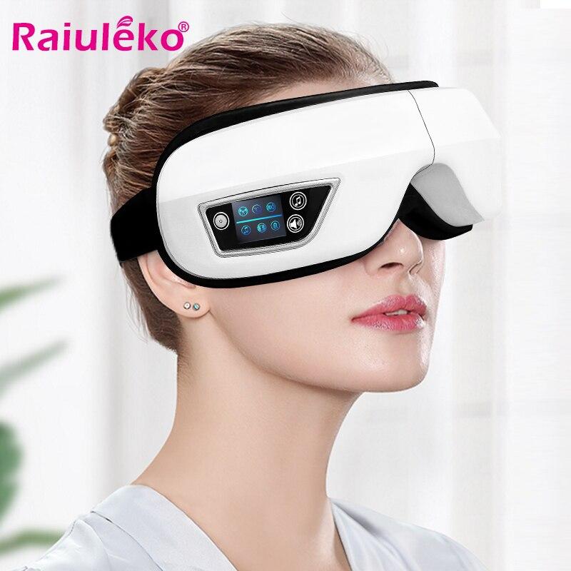 4D Smart Airbag Vibrating Eye Massager Electric Eye Care Massager Hot Compress Bluetooth Eye Fatigue Massage Glasses