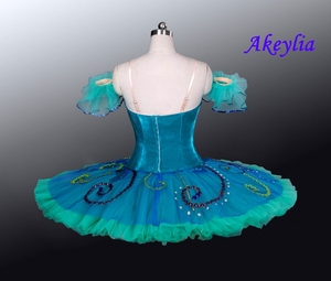 Image 3 - Yeşil gözleme Tutu sahne bale kostümü Esmeralda profesyonel bale giyim Nutracker el yapımı çocuk balerin Tutu