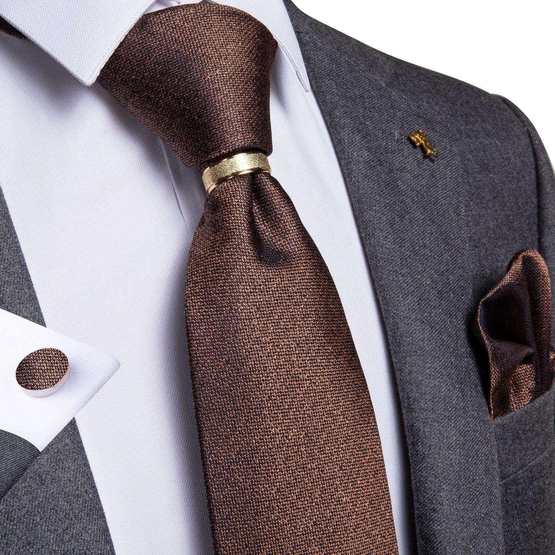 Business Classic Solid Silk Men/'s Tie Necktie Hanky Cufflinks Handkerchief Set