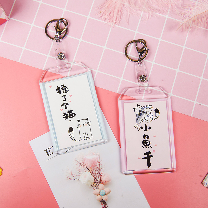 Creative Cats Retractable Badge Card Holder Nurse & Doctor Exhibition Pull Key ID Name Card Badge Holder School Office Supplies