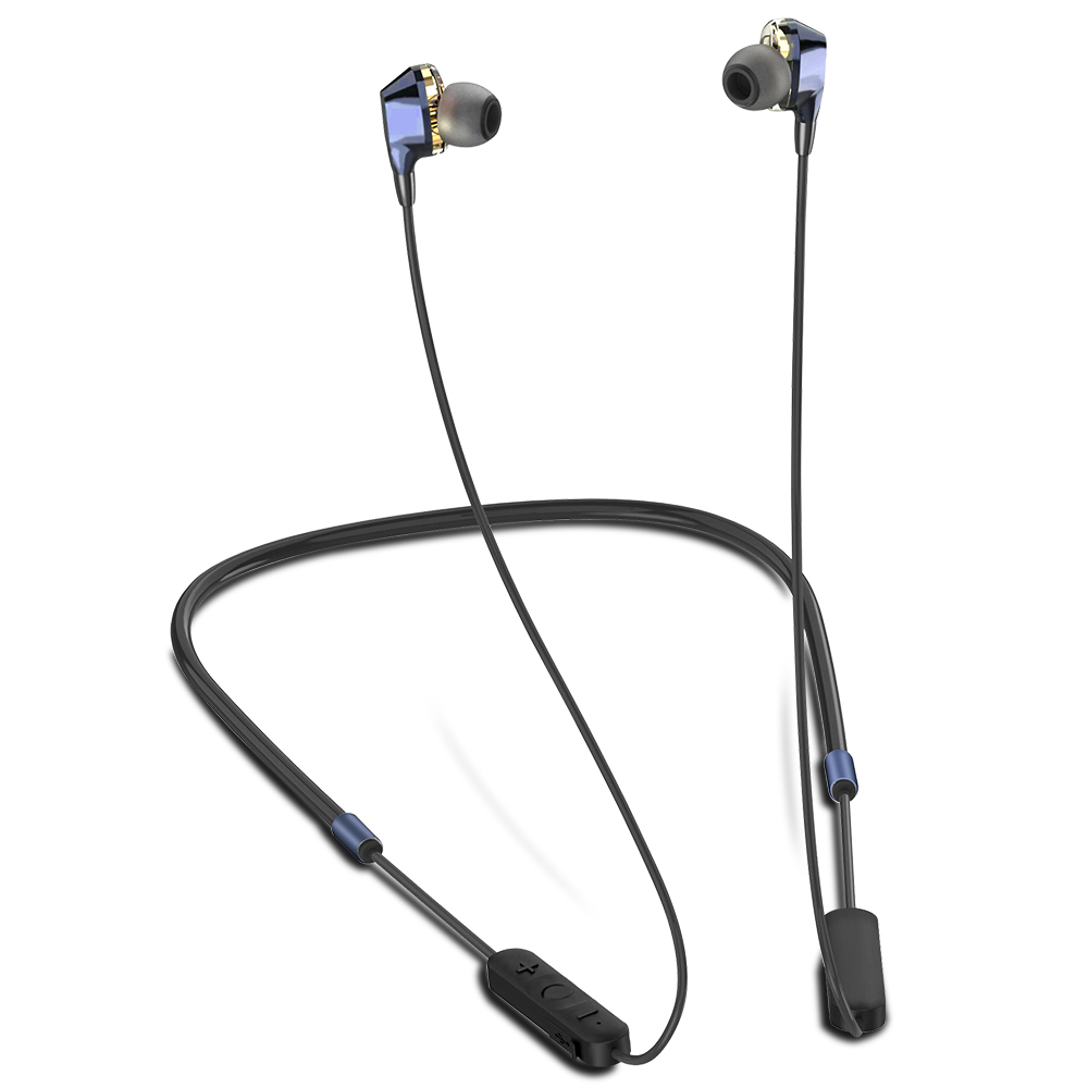 ALWUP G02 Bluetooth Earphone Wireless Headphones Dual Drivers Stereo Magnetic Neckband Sport Earphone For Phone With Mic 5.0