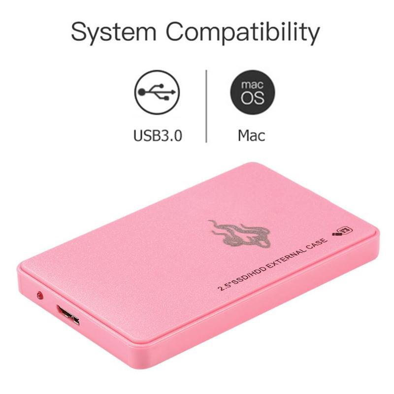Rose 2 to 1 to 500GB 2.5 pouces USB 3.0 disque dur externe SATA III dispositif de stockage de mémoire Portable HDD pour ordinateur de bureau