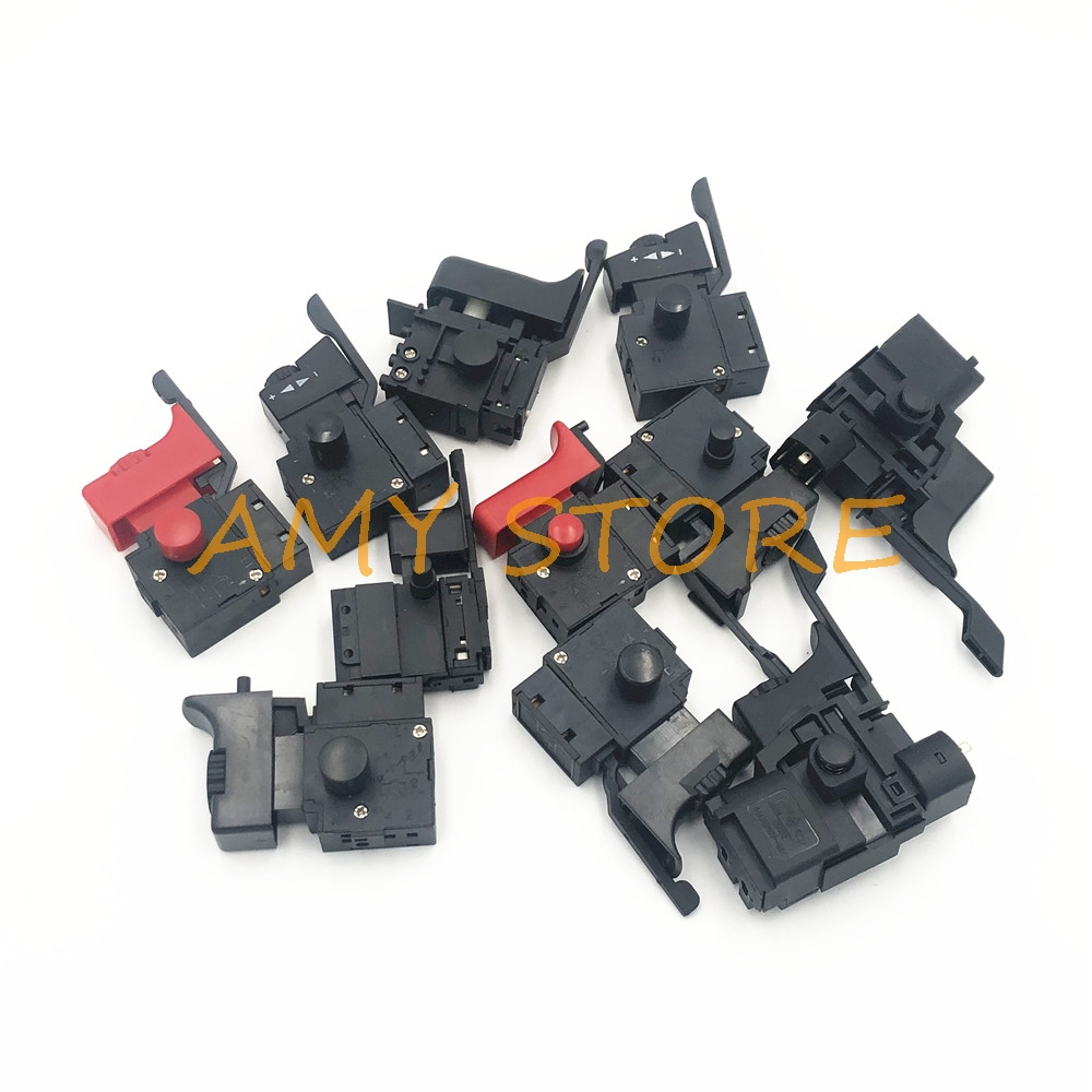 AC 250V/4A 6A Lock ON Adjustable Speed Control CW/CCW Switch For Electric Hand Drill Power Tool Trigger Switches