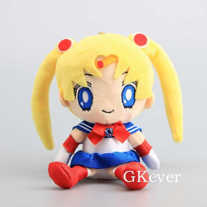 17-20 centimetri Anime Sailor Moon Della Bambola Della Peluche Peluche New Sveglio Sailor Mars Giove Mercurio Venus Figura Giocattolo donne Regalo di Compleanno Del Capretto