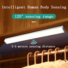5 Sizes 2 Colors LED Lights PIR Motion Sensor Cupboard Wardrobe Night Light Home Lamp For Kitchen Cabinet Bedroom Backlight