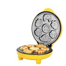 цена на Cartoon Mini Cake Machine Household Children's Bread Machine Double-sided Heating Baking Breakfast Machine