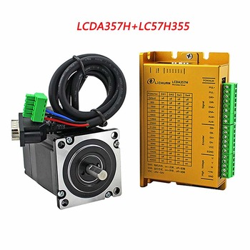 цена на 3phase stepper motor driver kit 3NM NEMA23 cnc closed loop servo with encoder LCDA357H+LC57H3100 with 3m cable