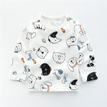 Autumn Baby Girls Boys Cotton Infants Long-sleeved T-shirts