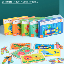 Wooden Toys Puzzle-Set Kids Montessori Creative Educational-Toy Cartoon For Children