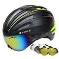 LOCLE Brille Radfahren Helm Straße Berg MTB Fahrrad Helm Casco Ciclismo Ultraleicht In mold Fahrrad Helm Mit Gläser 55  61CM-in Fahrradhelm aus Sport und Unterhaltung bei