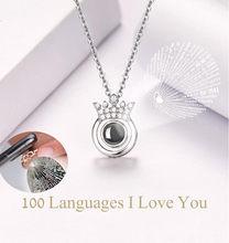 Osobisty naszyjnik choker 100 języków kocham cię walentynki prezent pamięć projekcja złoty warstwowy naszyjnik łańcuch biżuteria