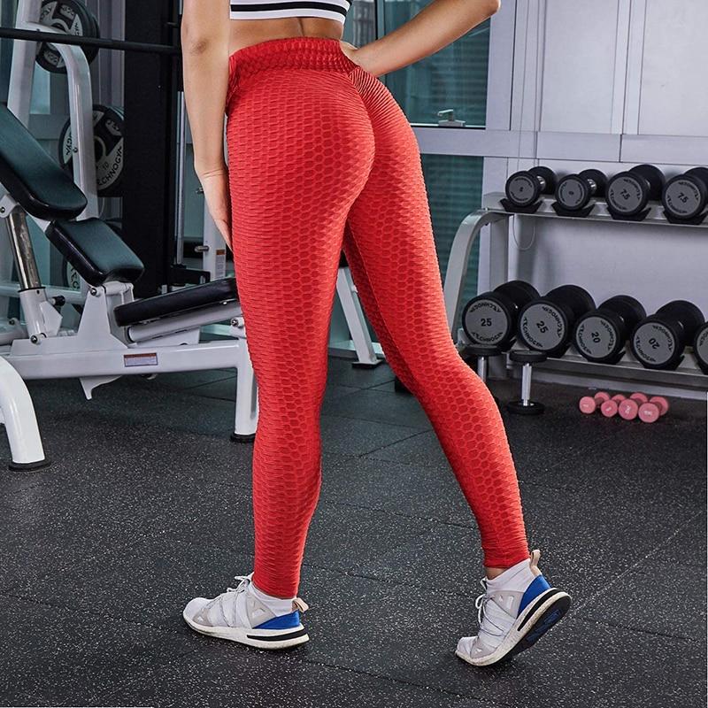 CHRLEISURE Women's Sports Pants High Waist  Ankle Elastic Force Leggings Women's Polyester Breathable Leggings For Fitness