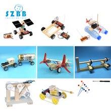 Sz Steam 9pcs Stem Education Kits Diy Children Science Project Discovery Toys Boy Creative Wooden Model Physics Experiments
