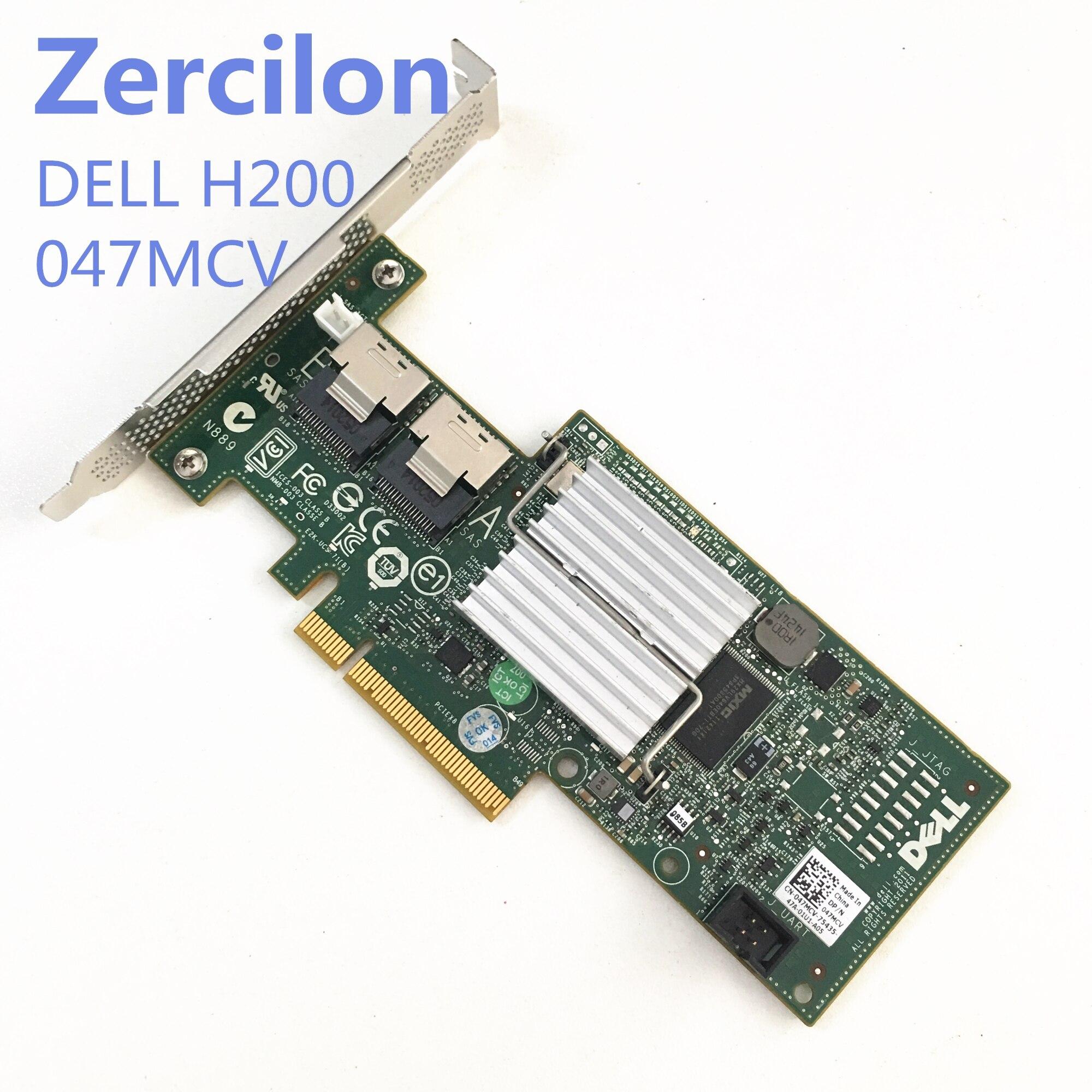 Usado original Dell PERC H200 6Gb 8-Port PCI-e Controladora Raid SAS SATA = 9210 047MCV 9211-8i