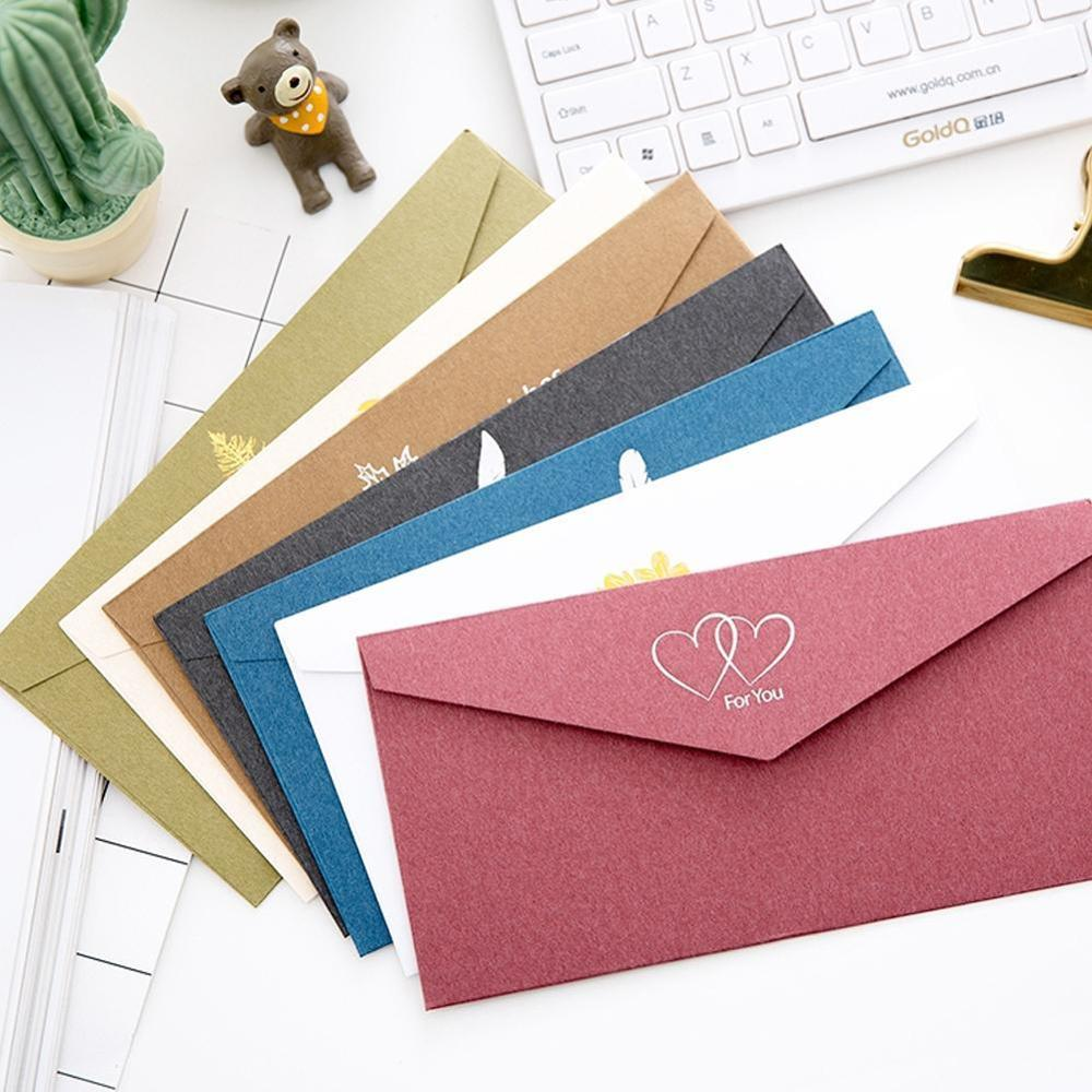 1PC Retro Elegant Wedding Gilt Envelope Business Invitation Letter Love Letter Ancient Style Gilt Western-style Envelope