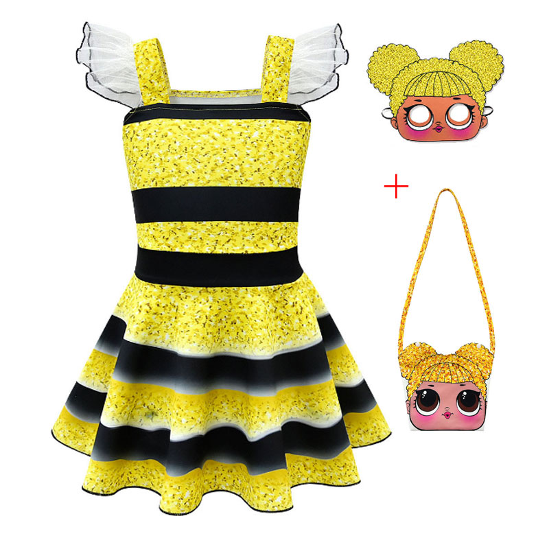 New Baby Performance Costume Strap  Dress Cute Girl Big Eyes Doll Christmas Cosplay Dress