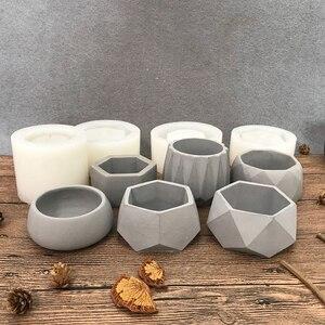 Image 5 - Molds for plaster pot ,concrete flower pot molds succulent plants pot molds