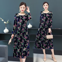 Бархатное платье chunli большого размера 2019 золотистого цвета